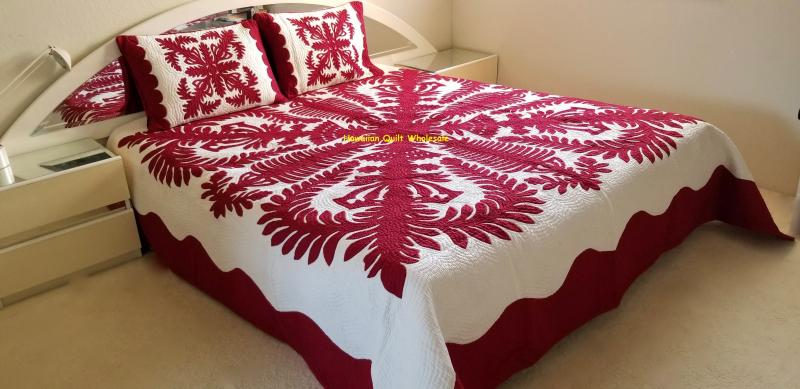 Crown and Kahili-MA<br>2 pillow shams included<br><font color=red>Superior Materials</font>