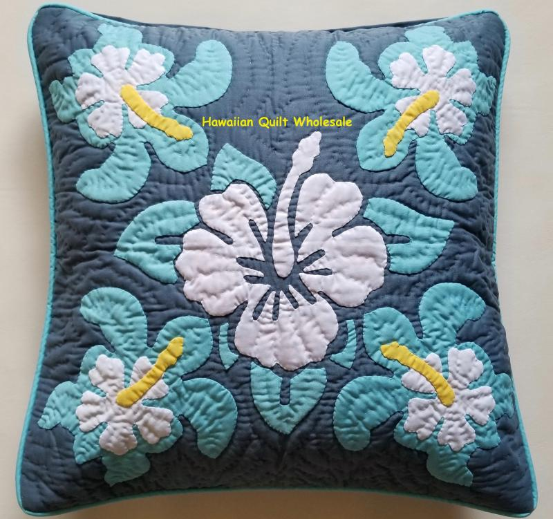 Hibiscus-Sea Turtles-MU<br>2 pillow covers