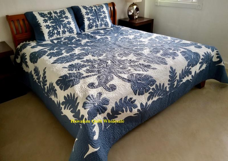 *Hibiscus-Fern-CB<br>2 pillow shams included<br><font color=red>Superior Materials</font>