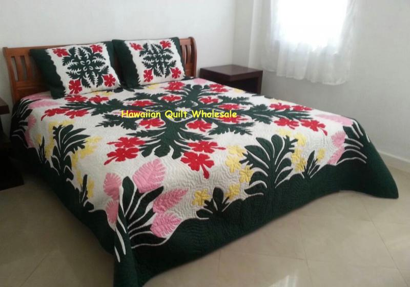 Hibiscus-Plumeria-Ginger-BGMU<br>2 pillow shams included<font color=red><br>Superior Materials</font>