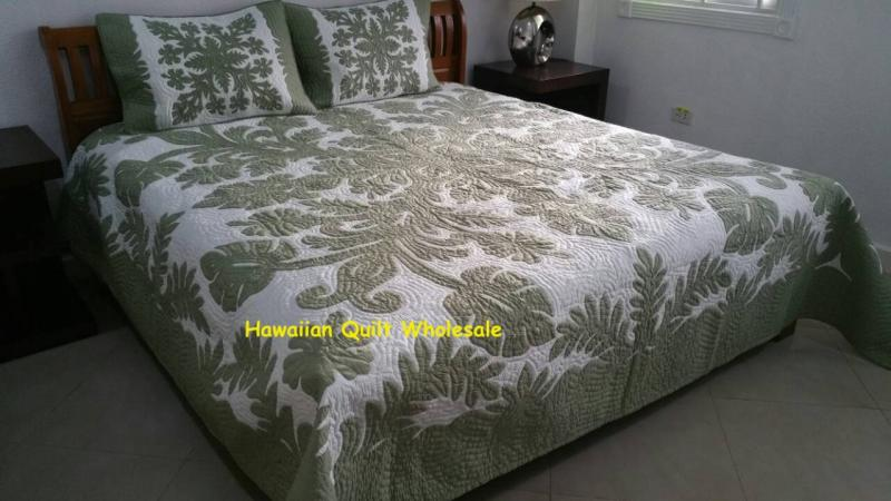 *Hibiscus-Fern-CG<br>2 pillow shams included<br> <font color=red>Superior Materials</font>