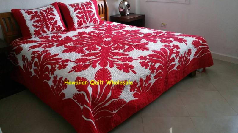 *Hibiscus-Plumeria-Torch Ginger-RE<br>2 pillow shams included<br><font color=red>Superior Materials</font>