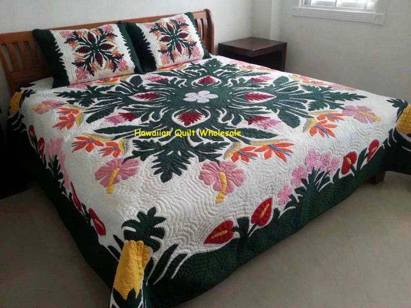 Tropical Flowers-BGM*<br> 2 pillow shams included<br><font color=red>Super Fine Materials</font>