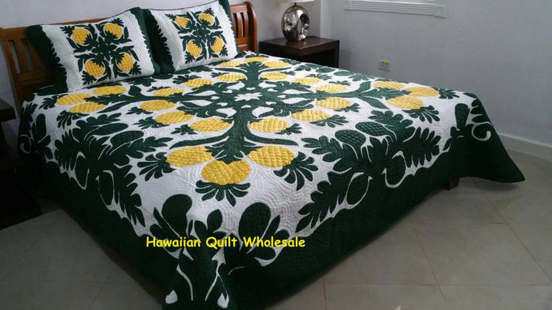 *Pineapple-Breadfruit-BGY* <br> 2 pillow shams included<font color=red><br>Superior Materials</font>