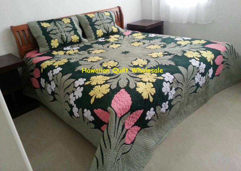 Hibiscus-Plumeria-Ginger-MCB<br>2 pillow shams included<br><font color=red>Superior Materials</font>