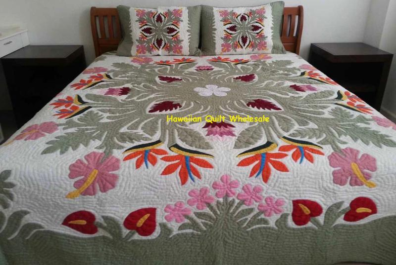 Tropical Flowers-CGM*<br> 2 pillow shams included<br><font color=red>Superior Materials</font>