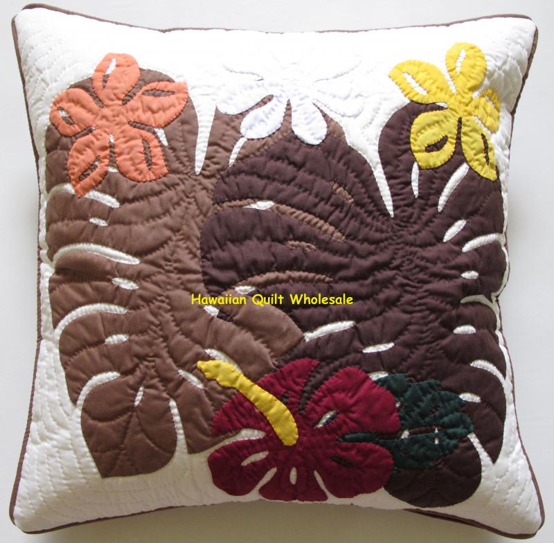 Monstera-Hibiscus-Plumeria-BRM<br> 2 pillow covers
