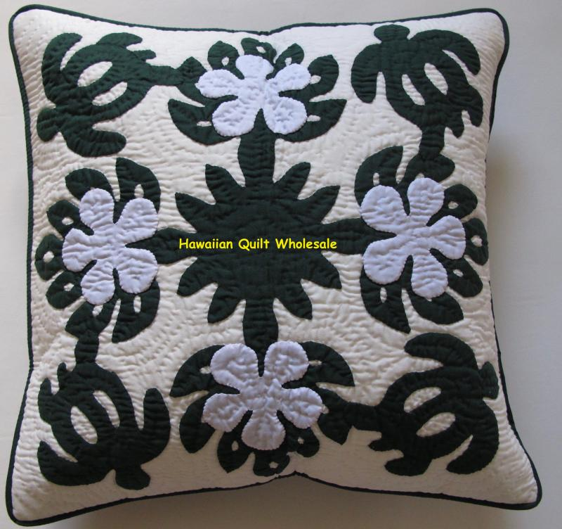 Sea Turtles-Plumeria-BGW<br>2 pillow covers