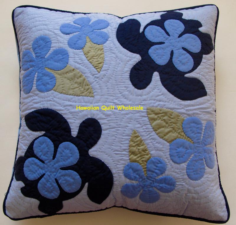 Sea Turtles Plumeria-MLB <br>2 pillow covers