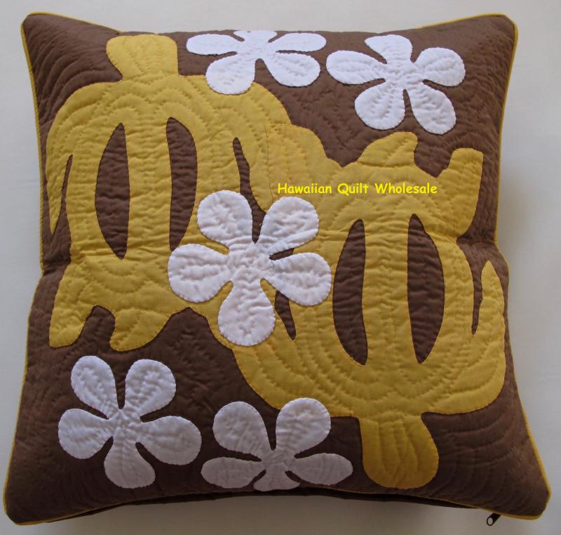 Sea Turtles-Plumeria-YEB<br> 2 pillow covers