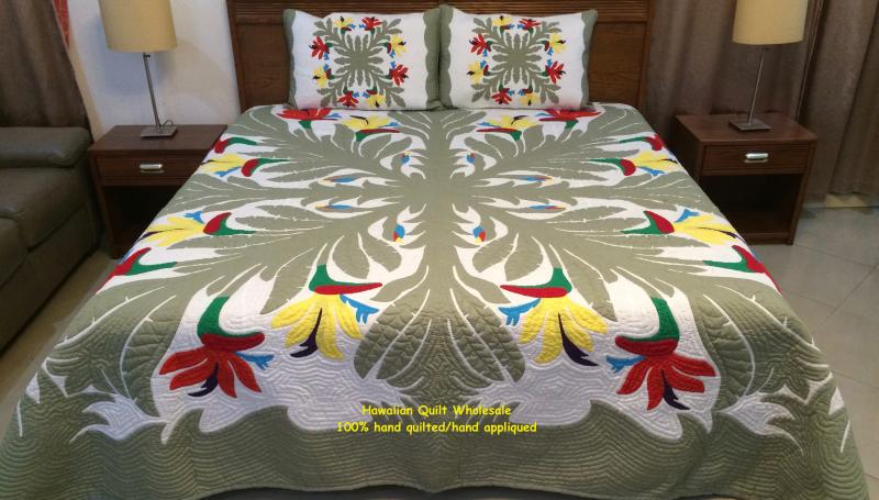 *Birds of Paradise-CGMO<br>2 pillow shams included<br><font color=red>Superior Materials</font>