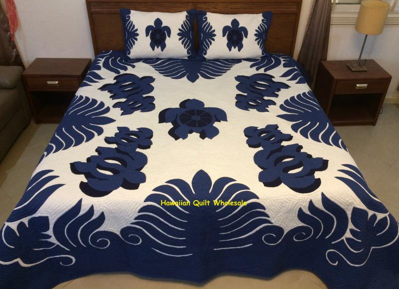 Sea Turtles with Shadow-BNB*<br>2 pillow shams included<br><font color=red>Super Fine Materials</font>