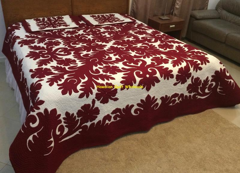 Hibiscus-M<br>2 pillow shams<br><font color=red>Superior Materials</font>