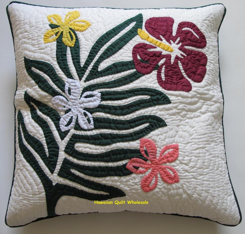 Plumeria-Fern-Hibiscus-BGMO<br>2 pillow covers