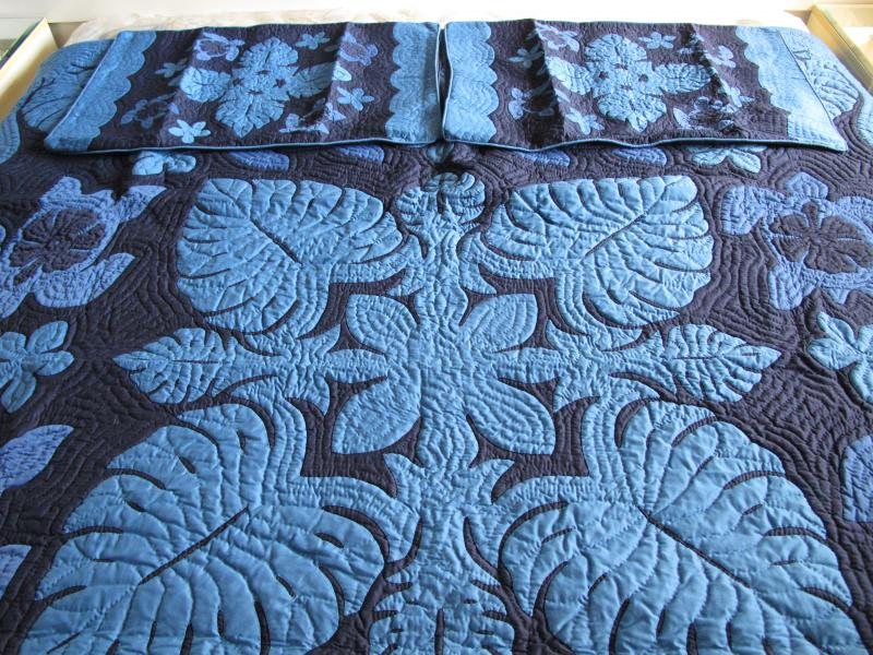 Sea Turtles-Monstera-Plumeria-Hibiscus-BMB<br>2 pillow shams included<br><font color=red>Superior Materials</font>