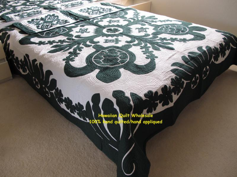 Sea Turtles-Ilima-Plumeria-BG<br> 2 pillow shams included<br> <font color=red>Super Fine Materials</font>