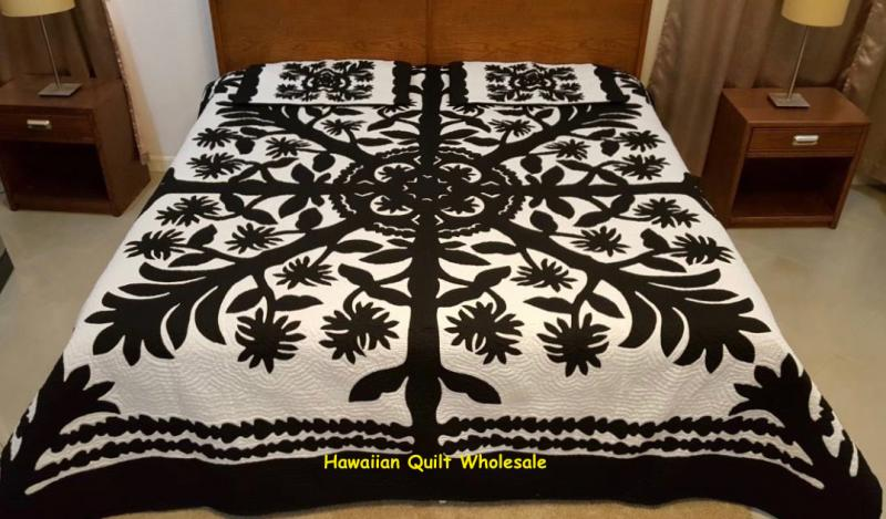 Liliuokalani-BLK<br> 2 pillow shams included<br> <font color=red>Superior Materials</font>