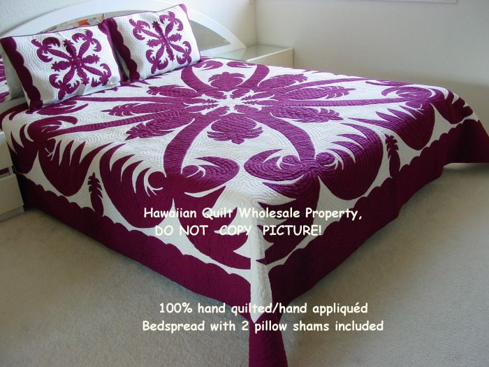 Queen bedspread (106x95)<br> 2 pillow shams included<br>(Standard Materials)