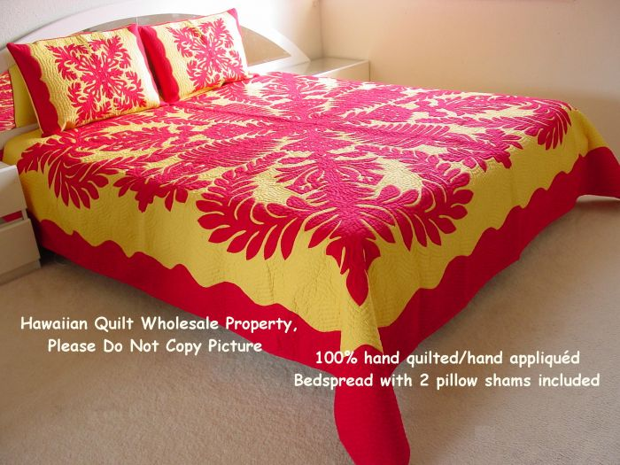 Queen bedspread (106x95)<br> 2 pillow shams included<br>(Superior Materials)