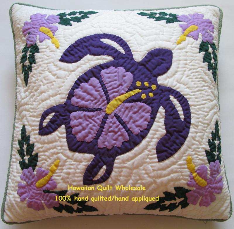 Sea Turtle-Hibiscus2-PL16<br>2  pillow covers