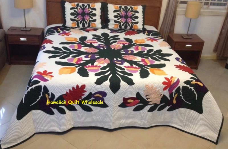 Tropical Flowers-BGM<br> 2 pillow shams included<br><font color=red>Superior Materials</font>